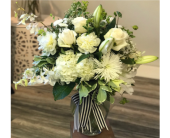 Whimsical Whites by Ferrari in Santa Cruz, California, Ferrari Florist