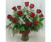 Dozen Roses- Red in Grand Rapids MN, Shaw Florists