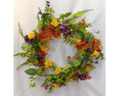 Mixed Floral Wreath in Grand Rapids MN, Shaw Florists