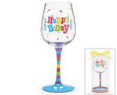 Birthday Wine Glass in Tuscaloosa AL, Amy's Florist
