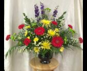 Sympathy Urn in Durham, North Carolina, Flowers By Gary