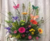 Sympathy Urn 2 in Durham, North Carolina, Flowers By Gary