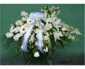 Casket Spray- All White in Islip NY, Flowers by Chazz