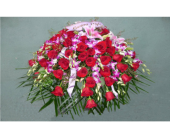 Casket Spray- Roses, Orchids, & Lilies in Islip NY, Flowers by Chazz