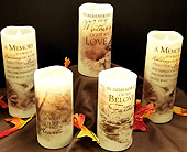 Flameless sympathy candle in Chardon OH, Weidig's Floral