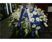 Custom Yankees Casket Spray in Islip NY, Flowers by Chazz