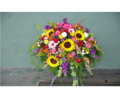 Casket Spray- Splash of Summer in Islip NY, Flowers by Chazz