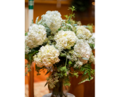 White Hydrangea Altar vase in Perry Hall, Maryland, Perry Hall Florist Inc.