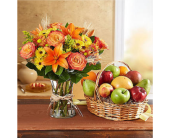 Fanciful Fall Floral & Fruit Bundle in Huntington WV, Archer's Flowers, Inc.