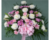 Standing Basket- Pink, White, Lavender in Islip NY, Flowers by Chazz