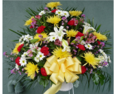 Standing Basket-Red, Yellow, White, Purple & Pink in Islip NY, Flowers by Chazz