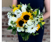 Bright & Sunny Bridal Bouquet in Schofield, Wisconsin, Krueger Floral and Gifts
