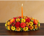 Autumn Wishes Centerpiece in Manchester MD, Main St Florist Of Manchester, LLC
