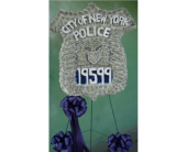 Custom NYPD Badge in Islip NY, Flowers by Chazz