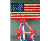 Custom American Flag in Islip NY, Flowers by Chazz