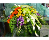 Casket Spray- Cascades of Color in Islip NY, Flowers by Chazz
