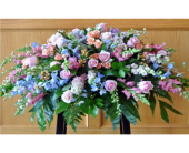 A SOFT SPRING CASKET SPRAY in Waco, Texas, Reed's Flowers