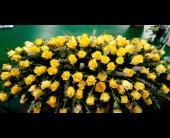 Golden Peace Casket Spray in Waco, Texas, Reed's Flowers
