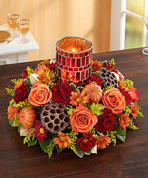 Shimmering Mosaic Centerpiece� in Corning NY, House Of Flowers