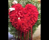 Custom Heart Spray in Staten Island, New York, Evergreen Florist