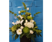 Green & White Designer Choice in Bossier City, Louisiana, Lisa's Flowers & Gifts