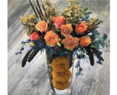 Fall Pumpkin Trio by Ferrari in Santa Cruz CA, Ferrari Florist