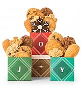 Holiday Joy Cookie Trio - by GiftTree Flowers