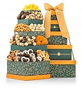 Holiday Charm Chocolate Tower - by GiftTree Flowers