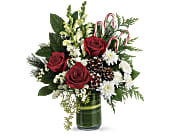 Teleflora's Festive Pines Bouquet in Bradenton FL, Tropical Interiors Florist