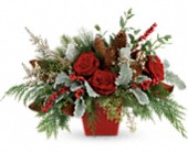 Winter Blooms Centerpiece in Bradenton FL, Tropical Interiors Florist