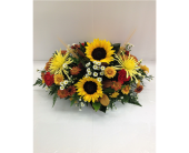Sunflowers & Mums Fall Centerpiece in Smyrna GA, Floral Creations Florist