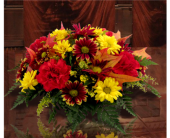 Fall Blossoms Centerpiece in Southfield MI, Thrifty Florist