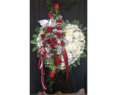 Bleeding Heart w/Roses in Elizabeth City, North Carolina, Jeffrey's Greenworld & Florist, Inc.