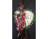 Bleeding Heart w/Carnations in Elizabeth City, North Carolina, Jeffrey's Greenworld & Florist, Inc.