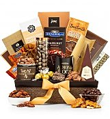 Generous Gourmet Nuts and Chocolate Basket - by Gift Tree Flowers