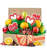 Sprinkled with Love Fruit and Cookies Gift - by Gift Tree Flowers