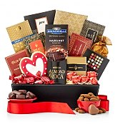 Heart's Delight Gourmet Gift Basket - by Gift Tree Flowers