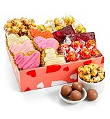 Heart's Delight Snacks & Sweets Box - by Gift Tree Flowers
