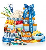 Birthday Bliss Gourmet Gift Tower - by Gift Tree Flowers