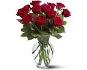 12 Red Roses in Merced CA, A Blooming Affair Floral & Gifts
