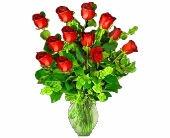One Dozen Imported Red Roses in Seattle WA, Topper's European Floral Design