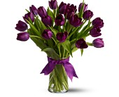 Teleflora's Passionate Purple Tulips - Deluxe in Walpole MA, Flowers & More Design Studios