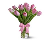 Teleflora's Precious Pink Tulips in Jersey City NJ, A.J. Barrington's Flowers