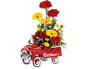 Teleflora's Fire Engine Bouquet in Dallas TX, Flower Power
