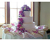 Cake with Lavender Roses in Lansdale PA, Genuardi Florist