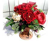 Silk Rose Bouquet in Lake Forest CA, Cheers Floral Creations