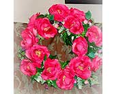 Silk Rose Wreath in Lake Forest CA, Cheers Floral Creations