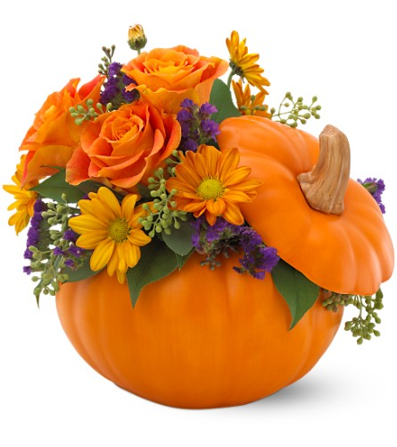Teleflora's Pumpkin Patch Bouquet in Santa Fe NM, Barton's Flowers