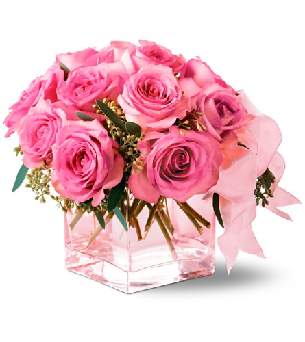 Teleflora's Pink on Pink Bouquet Local and Nationwide Guaranteed Delivery - GoFlorist.com