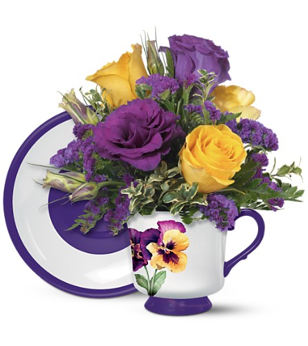 Teleflora's Pretty Pansy Bouquet in Oklahoma City OK, Array of Flowers & Gifts